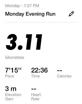 Running Challenge Day 1