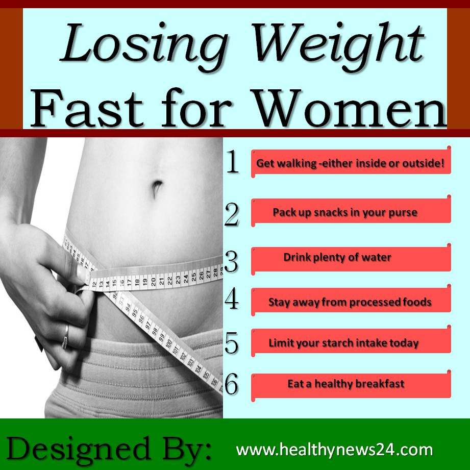 How to lose weight fast for women: Top 6 Ways Healthynews24 Health ...